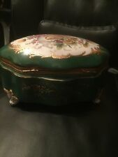 Antique Sevres Porcelain Jewellery Trinket Box French 1850-1890