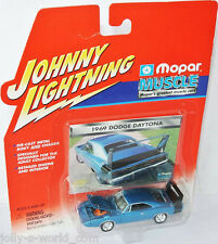 Mopar Muscle - 1969 DODGE CHARGER DAYTONA - blue/black - 1:64 Johnny Lightning