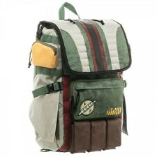 Official Star Wars Boba Fett Mandalorian Suit Up Full-Sized Laptop Backpack
