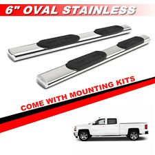 "6"" S/S Nerf Bars Side Steps For 07-17 CHEVY SILVERADO CREW CAB Running Boards"