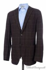 ERMENEGILDO ZEGNA Z Current Brown Plaid Wool Unstructured Blazer Sport Coat 40 S