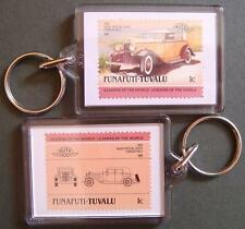 1932 NASH Special Eight Convertible Car Stamp Keyring (Auto 100 Automobile)