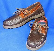 TERRIFIC 14 M  SPERRY TOP SIDER CANOE BROWN & TAN MEN CLASSIC BOAT SHOES 0194753