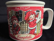 2000 Campbell's Kids Soup Mug / Bowl Autumn Fall Winter Scenes Red / White.