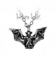 Goth : Alchemy Collier Chaine & Pendentif Chauve Souris Vampyr Gothique