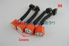 4pcs H4 Hi Heat Headlamp Headlight  Bulb Wiring Harness Ceramic Socket Plugs Kit