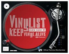 Vinylist - Keep Vinyl Alive Slipmats (pair/red)  OFFICIAL LICENSED DMC Technics