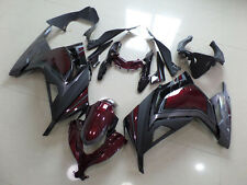Injection BodyWork Fairing For Kawasaki Ninja 300 EX300 2013 2014 Wine Red/ Grey