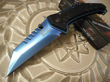 Mtech Xtreme Ballistic Dean Hogarth Blue Titanium Clipper Assisted Pocket Knife