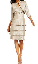R&M Richards New Tiered Embellished Dress and Jacket Size 8 MSRP $129 #AN 134
