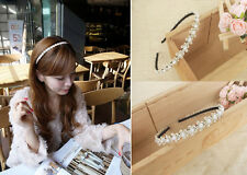 1x Pearl Flower Hair Band Women Headband For Lady Girls Hair Accessories