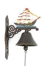 Gartenglocke Wandglocke Segelschiff Windjammer Eisenglocke Schiffglocke Metall