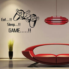 EAT SLEEP PLAY GAME BOY LETTERING DECAL WALL VINYL HOME DECOR STICKER