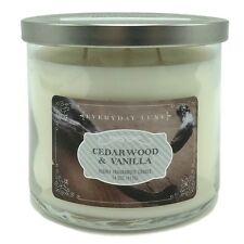 Everyday Luxe Spa Collection Cedarwood and Vanilla Scented Candle 3 Wicks