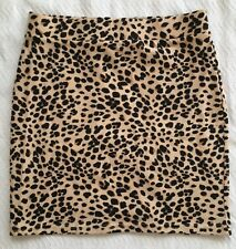 DIVIDED BY H&M WOMEN LEOPARD BEIGE&BLACK SHORT MINI SKIRT SIZE US 4 EUR 34 ~NWOT