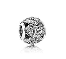 Authentic Sterling Silver Pandora Oriental Fan with Clear CZ Charm 791906CZ