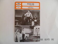 CARTE FICHE CINEMA 1965 MICKEY ONE Warren Beatty Alexandra Stewart Hurd Hatfield