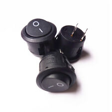 5PCS New Car SUV Plastic Round 12V 2-Pin ON-OFF SPST Rocker Boat Snap Switches