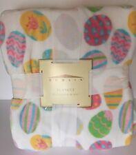 Domain Easter Egg Pastel Super Soft Plush Fleece Blanket Throw Full/Q 90x90