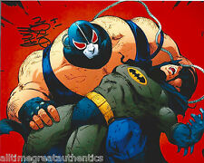 COMIC BOOK ARTIST ~ BANE CREATOR CHUCK DIXON 8X10 PHOTO SIGNED F w/COA BATMAN