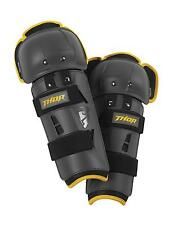 Thor Youth Sector GP Kneeguard - Charcoal / Yellow