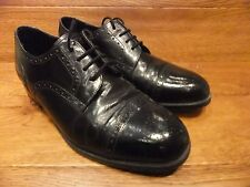 Clarks Black Leather Brogue Lace Up Shoes Size UK 9 EUR 43