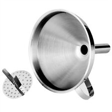Kitchen Tool Stainless Steel Wine Oil Coffee Filter Funnel With Removable Filter