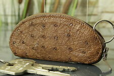 Schlüsseletui KRALLE Etui Strauß Leder Key case holder ostrich NEW 3220