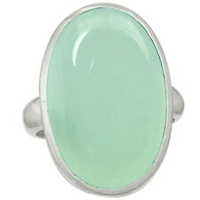 Aqua Chalcedony 925 Sterling Silver Ring Jewelry s.6 AQCR354