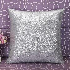 Solid Color Glitter Sequins Throw Pillow Case Cafe Home Decor Cushion Cover L8J0