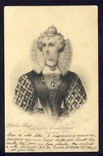 cpa FRANCE Gravure Estampe ELISABETH d' ANGLETERRE Queen of England and Ireland