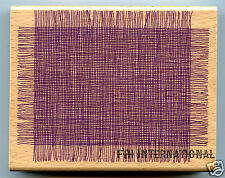 Mesh Background ~ All Night Media Wood Mount Rubber Stamp #408K Net, Weave, New