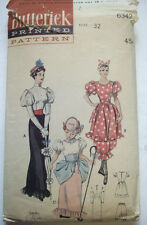 1940's 1950's?  Gay nineties bathing suit Bo-Peep costume pattern 6342 sz 14