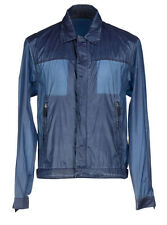 PRADA Denim & Nylon Windbreaker Jacket 40 US 50 IT Denim Nylon Washed NEW