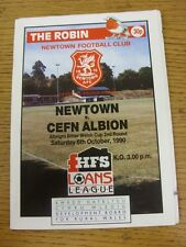 06/10/1990 Newtown v Cefn Albion [Welsh Cup] . Good condition unless previously