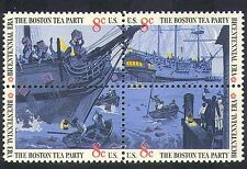 USA 1973 Navi/Sail/Barca/Boston Tea Party/Trasporto/POLITICA 4v S-T BLK (n24373)
