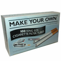 500 MAKE YOUR OWN King Size Cigarette Filter Tubes - THE NEW RIZLA CONCEPT