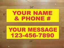 """10 6""""x24"""" Yellow & Red REAL ESTATE NAME RIDER SIGNS CUSTOM LOWEST PRICE NEW"""