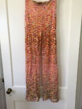 Missoni Orange Label Pants  Sequined Bergdorf Goodman Size 40 Made In Italy