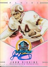 RARE JOHN RIGGINS SIGNED 2013 PANINI SPECTRA HALL OF FAME CARD~FOOTBALL HOF AUTO