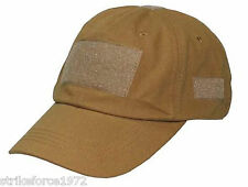 NEW - Coyote Tan Peaked Operators Baseball Cap