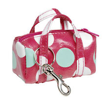 Red Spotty Oilcloth Mini Bag Keyring Key Chain By Katz Dancewear KR10 Christmas
