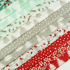 Winterberry ~ Fabric Pack x 12 / quilting Christmas tree forest Moda stocking