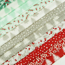 Winterberry ~ Fabric Pack SCRAPS / quilting Christmas tree forest Moda stocking