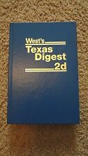 New West's Texas Digest 2d 6F - Automobiles 1935 TO DATE - Published 2013