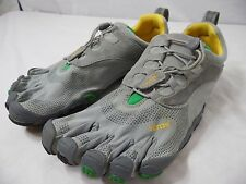VIBRAM FIVE FINGERS Mens 45 (11.5-12) Gray & Yellow Minimalist Running Shoes