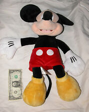 "Genuine Disney Store Mickey Mouse 19"" Plush Collectable, Free Shipping U.S.A."