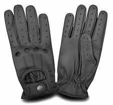 MENS CLASSIC DRIVING GLOVES LAMBSKIN LEATHER DRESS GLOVES - BLACK size S M L XL