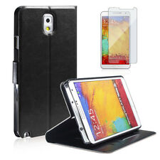 Samsung Note 3 N9000 PU Wallet Magnet Design Flip Case+Free Clear Screen Guard