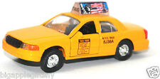 """Die cast New York City Yellow Taxi Cab toy model Pull back and go action 5"""" long"""
